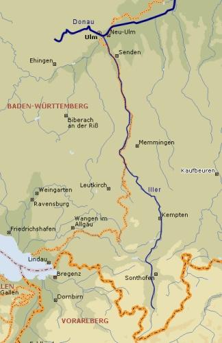 Isar Fluss Karte.Die Nebenflüsse Der Donau Isar
